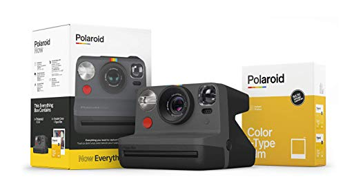 Polaroid Originals Now I-Type Instant Camera and Film Bundle - Everything Box Black (6026)