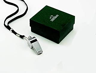 Personalized Silver Coach Whistle with Lanyard Engraved Free