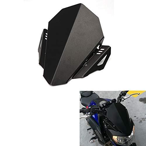 XCJ Motorrad Windschutzscheibe Motorrad Windschutzscheibe Windschutzscheibe Aluminium Kit Deflector Fit for Yamaha MT-07 MT 07 FZ-07 FZ 07 2018 2019 FF Windabweiser Spoiler Einstellbar Windschild