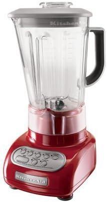 popular KitchenAid KSB560ER 5-Speed Blender with Polycarbonate Jar, discount popular Empire Red (Renewed) sale