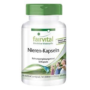 Cápsulas para los riñones - Nieren Kapseln - VEGANO - Dosis elevada - 60 Cápsulas - Calidad Alemana