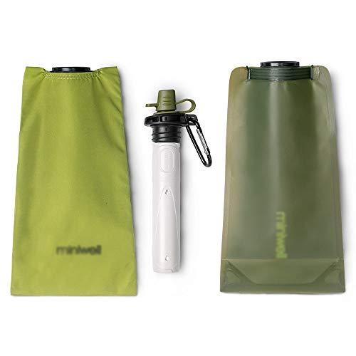 Purificateur d'eau Portable sans Logo pour Le Camping et Les Sports de Plein air, Vert