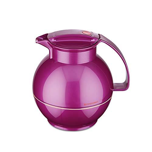 ROTPUNKT Isolierkanne 360 Sissy 1,0 l   Zweifunktions-Drehverschluss   BPA Frei- gesundes Trinken   Made in Germany   Warm + Kalthaltung   Glaseinsatz   Shiny Grape