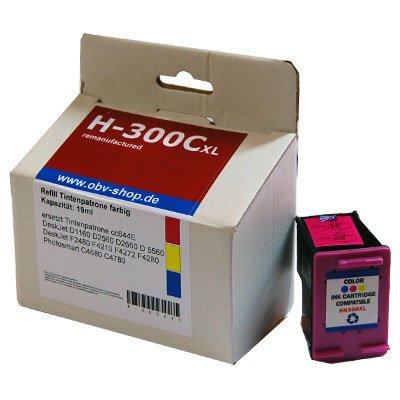 OBV–Refill cartucho de tinta equivalente a HP 300XL/300x l Colores d1160D2560, D2660, D5560F2480F4210, F4272F4280C4680C4780