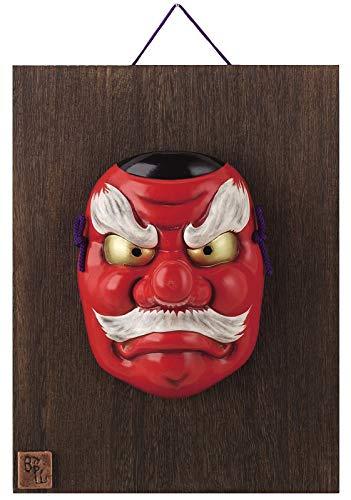 GOOD LUCK Charm S02-5 - Máscara de la suerte japonesa tradicional Tengu de nariz larga