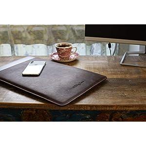 Atelier Jomaa Vintage Hülle aus hochwertigem Leder für Apple MacBook Pro & MacBook Air 13 Zoll dunkelbraun hergestellt…