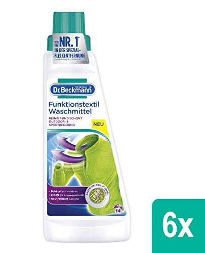 Dr. Beckmann Funktionstextil Waschmittel, 84 Waschgänge, 6er Pack (6 x 500 ml)