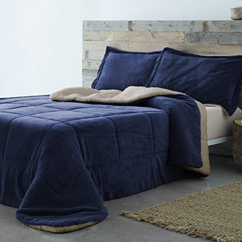 Barceló Hogar - Edredón Conforter Sherpa Basic - 25 Marino, 90 cm