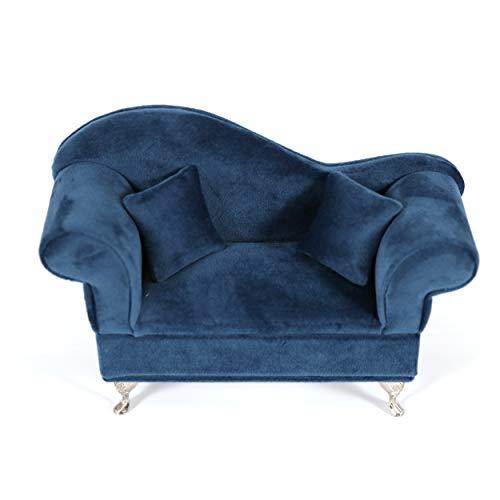 Caja Joyero Sofa Joyeros Mujer Organizador Decoración Terciopelo 22 X 7,50 X 15 CM- Color Azul