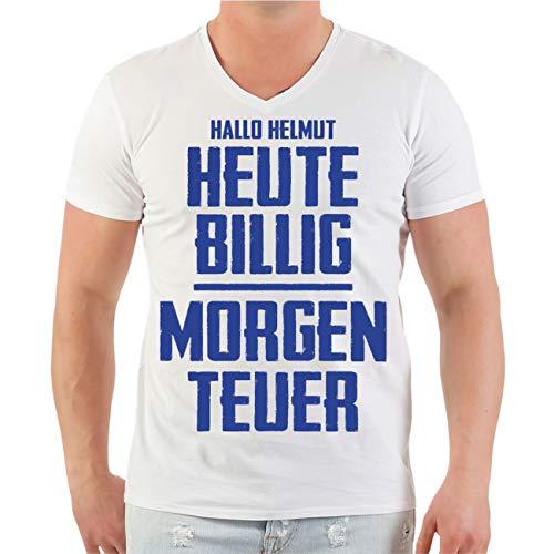 Spaß kostet Männer und Herren Tshirt Mallorca Sprüche Helmut Heute billig Morgen teuer (mit Rückendruck) Größe S - 5XL