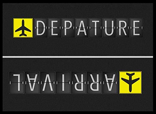 Fußmatte (Abtreter) Motiv Arrival/Departure 105 x 70 cm