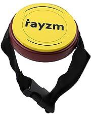 Rayzm Practice Pad met verstelbare riem, draagbaar drum pad met echte trommel feel, 4 inch (10,2 cm) siliconen pad - Responsive & Quiet, kan standaard 8 mm drum stand worden gehouden. montage.