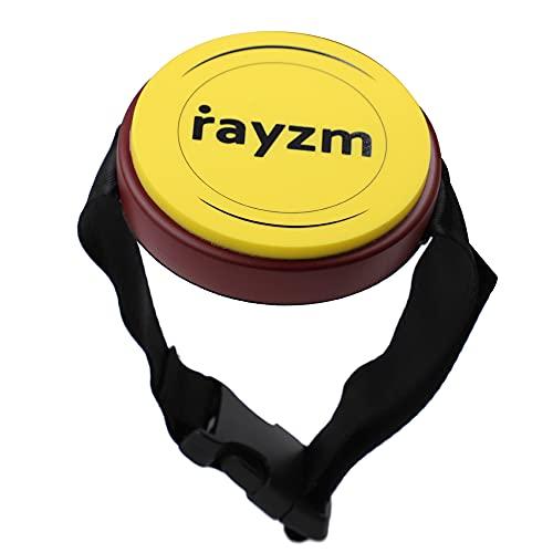 Rayzm Pad per pratica da ginocchio con cinturino regolabile, pad in silicone da 4 pollici (10,2cm) - reattivo e silenzioso, può montare su supporto per tamburo standard da 8mm.