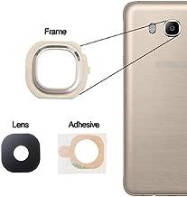 BisLinks for Samsung Galaxy J7 2016 Back Camera Lens Glass Frame + Adhesive Gold J710F