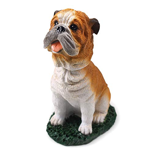 Bulldog Dog Bobblehead Figure for Car Dash Desk Fun Accessory