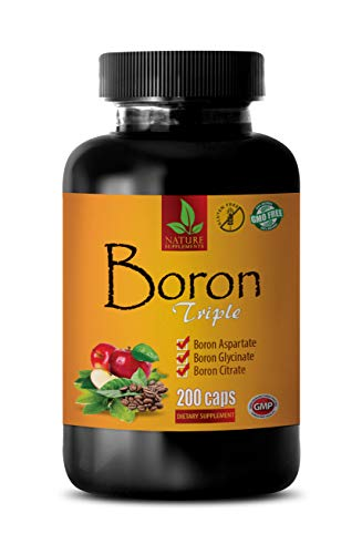 Testosterone Booster Building Muscle - Energy Booster for Men - Boron Triple Dietary Supplement - Boron Testosterone Supplement - 1 Bottle 200 Capsules