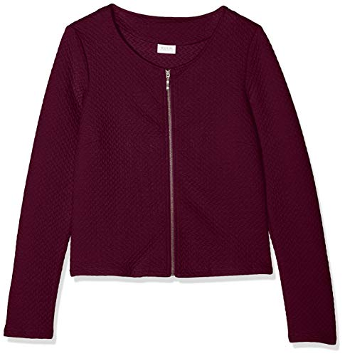 Vila Damen Vinaja New Short Jacket Blazer, Rot (Winetasting Winetasting), 38 (Herstellergröße:M)