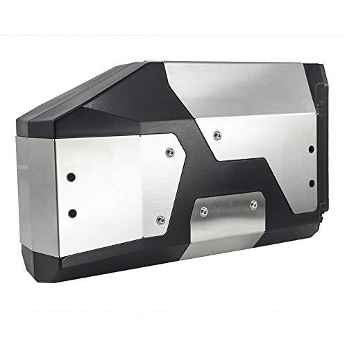 para R1200GS R1250GS R 1200 1250 GS R1200 LC ADV F850GS F750GS Caja de Herramientas de Aluminio Decorativa 4.2L Caja de Herramientas Laterales Izquierda (Color : Silver)