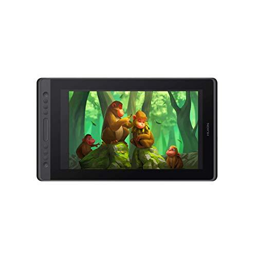 HUION Kamvas Pro 16 Premium Grafiktablett mit Display 8192 Druckstufen – Zeichentablett mit Antireflexglas, 150% sRGB, 6 programmierbare Tasten, Neigungsfunktion, Graphik-Tablet mit Ständer