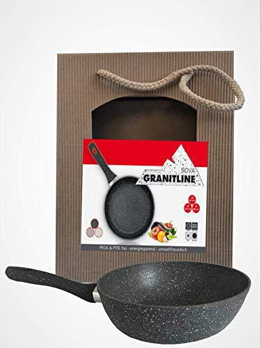 Hochrandpfanne Granitline 24cm,Granitpfanne,Bratpfanne,Kratzfest induktion antihaft
