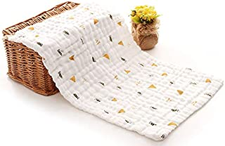 Moms Home Baby Super Soft Absorbent Muslin 6 Layer wash Towel- 60X120 cm - (0-3 Years)- Printed and Pack of 3 Napkin and 2...
