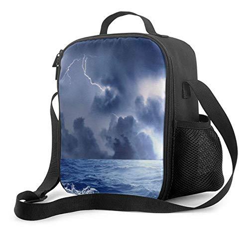 IUBBKII Bolsa de almuerzo con aislamiento Janeither Portable Lunch Bag, Large Capacity Storage Container, Women Men Kids Girls Insulated Tote Bag, Reusable School Outdoor Picnic Handbag With Lightning