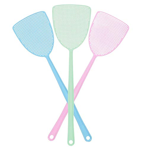 Fly Swatter, Strong Flexible Manual Swat Set Pest Control, Assorted Colors (3 Pack) (3 Colors)
