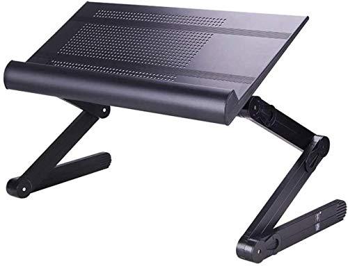 THBEIBEI Elevable Mesa portátil, multifunción de Escritorio Ajustable Plegable ergonómico portátil Tablet PC Portátil (Color : Black)
