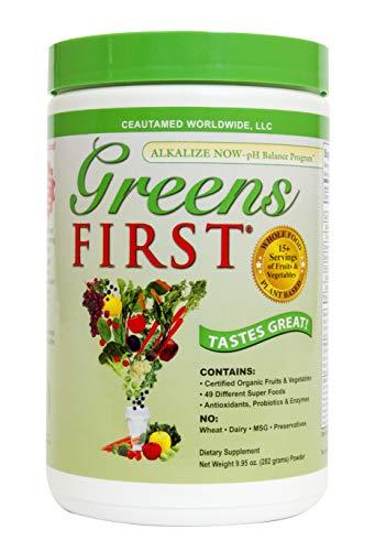 Greens First - Original - 30 Servings - Nutrient Rich-antioxidant Superfood, 49 Different Super Foods, Phytonutrient & Antioxidant, Revitalize, Gluten Free, Vegan & Non-GMO - 9.95 Ounce