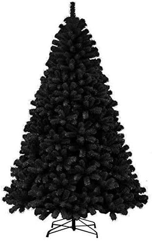 PRIME DEALS-Colorado Black Artificial Christmas Tree Large Pine Metal Stand Thick Tips Spruce Xmas Tree 5ft/6ft/7ft (7ft - (1000) Tips)