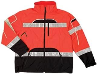 ML Kishigo RWJ107 Brilliant Series High-Viz Rainwear Jacket, Fits 2X-Large and 3X-Large, Orange