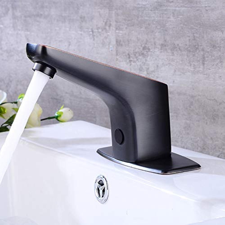 HUIJIN1 Bewegungspotivierter Waschbecken, Auto-Sensor-Waschbecken mit Deckplattensteuerung, lrohrbronze, bleifrei