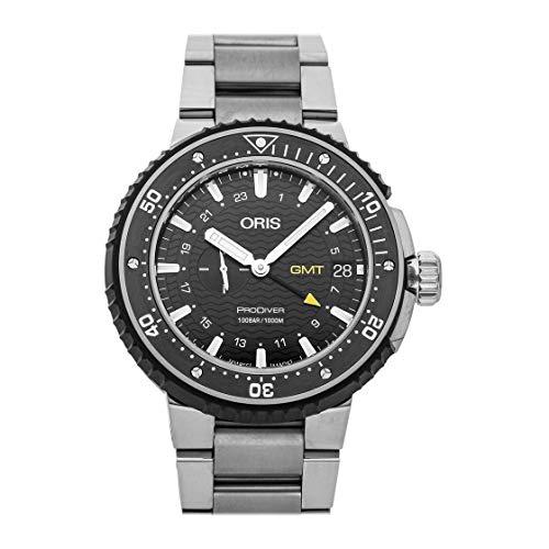 Oris ProDiver GMT quadrante nero automatico da uomo in acciaio orologio 01...