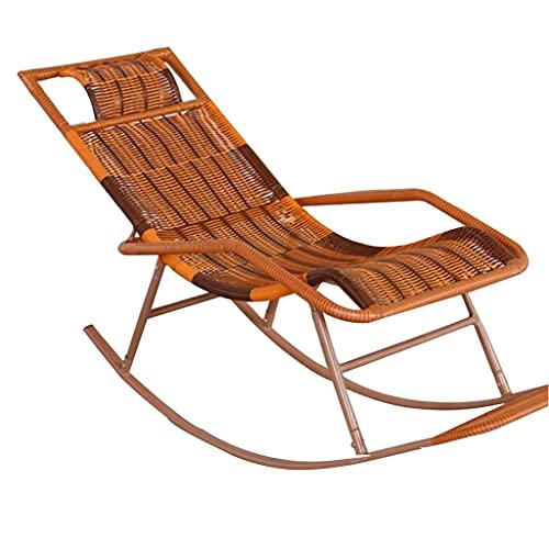 LLMY liegestuhl Schwerelosigkeitssessel, Klappbarer Gewebter Seniorenstuhl, Rohrwand Verdicken, mit Armlehne Und Pedalen, zum Schwimmen Auf Terrasse am Strand(Color:Style 2)