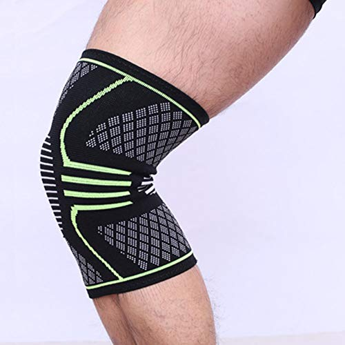 Knee Support - Premium Compression Knee Sleeve - Knee Brace Patella Stabilizer For Meniscus Tear - Arthritis Pain - Best For Running - Crossfit - Sports - Ideal For Women - Men - Kids - Pair Wrap,Gree