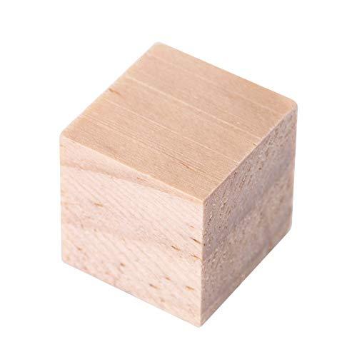 Dasket Quadratische Holzblöcke für Heimwerker, handgefertigt, natürliche Handwerksholzwürfel