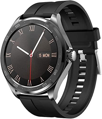 F10 reloj inteligente hombres s Bluetooth 5 0 dial monitor de ritmo cardíaco redondo reloj inteligente deportes hombres s reloj para Android IOS-A