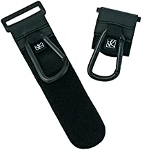 J.L. Childress Clip 'N Carry, Universal Fit Non-Slip Stroller Hooks, 2 Pack, Attach to Diaper Bag, Shopping Bag, Purse, Stroller, Non-Slip Adjustable Strap, Durable Clips, Black