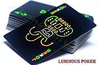 YWRB カードコレクションスペシャルポーカーボードゲームを遊ぶ夜光蛍光ポーカーカードクールブラックグローダークバーパーティーKTVルミナス (Color : LuminousPokerCards)