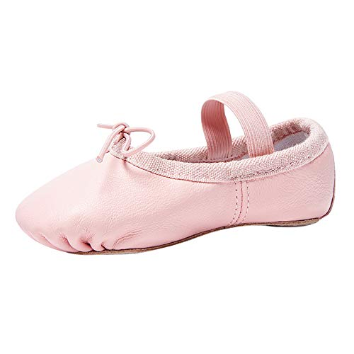 STELLE Premium Leather Ballet Slipper/Ballet Shoes(Toddler/Little Kid/Big Kid) (10MT, Pink)