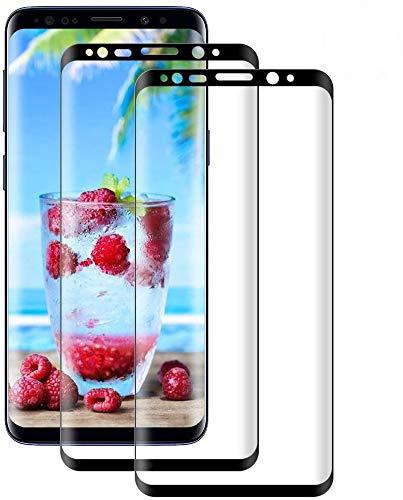 DOSMUNG [2 Pezzi Vetro Temperato per Samsung Galaxy S9, Pellicola Protettiva Vetro per Samsung Galaxy S9 [9H Durezza] [3D Curvo Copertura Completa] [Ultra HD] [Anti-Graffi] Samsung S9 Tempered Film