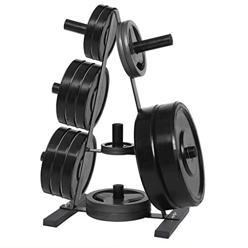 Dumbbell Rack,A Frame Plate Rack Weight Plate Trees 2 inch for Bumper Weight Stand for Dumbbells Home Gym Weight Tower (37 x 20 x 15 inches, Black)