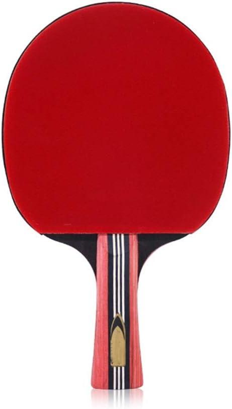 KPOON Pádel de Mesa Tabla Raqueta de Tenis de Tiro Terminado Single Shot Seis 6 de la Estrella Horizontal Artículos Deportivos Paleta de Ping Pong dúplex (Color : Multi-Colored, Size : 15x25.3cm)