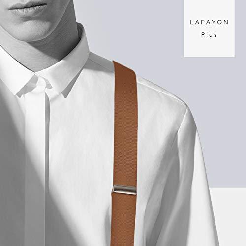 Lafayon Hommes Bretelles Bretelles Pour Hommes 6 Boucles Y Retour Rayé Heavy Duty Hommes Bretelles...