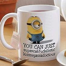 Minion You Can Just Supercalifckilistic Mok Witte Keramische Koffie Mok