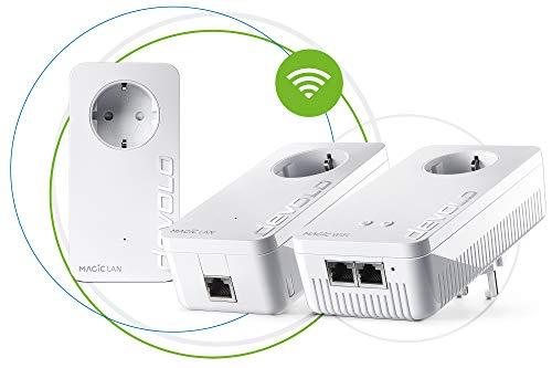 devolo Magic 1 - 1200 Wifi AC Gaming Kit dLAN 2.0: Ideal für Gaming,  3 Powerline-Adapter für zuverlässiges WLAN ac einfach via Stromleitung durch Wände und Decke