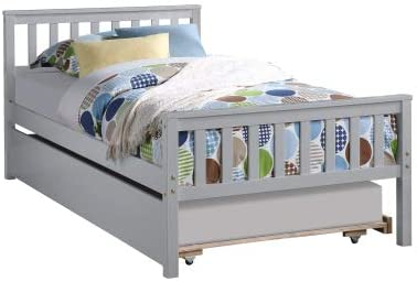 Twin Size Max 48% OFF Platform Bed with Headboard Gra and Excellent Footboard Trundle