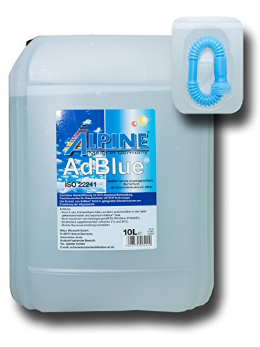Alpine AdBlue Hochreine Harnstofflösung für SCR Abgasnachbehandlung 10 Liter (H1/14)