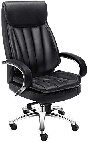 Sedie sedia Office Chair Heavy Duty esecutivo Reclining ufficio schienale alto ergonomico Ecopelle Computer Desk sedia di ufficio (Colore: Nero, Dimensioni: 123x50x65cm) XIUYU