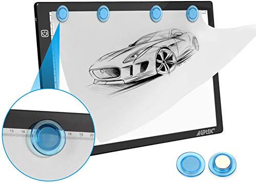 Magnetic A4 LED Artcraft Tracing Light Pad Light Box AGPtEK Stepless Brightness Control with Memory Function USB Powered Tatoo Pad Animation,Sketching,Designing,Stenciling X-ray Viewing W/USB Adapter